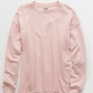 AMERICAN EAGLE Pink Downtown Sweatshirt